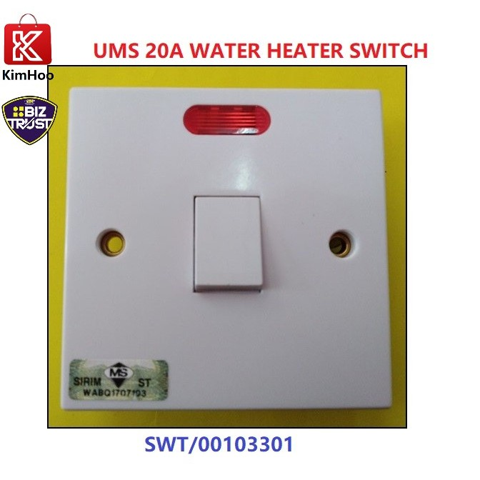 High Quality Double Pole Water Heater Switch NEON (WHH220-N)