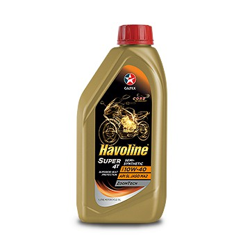 Caltex Havoline Super 4T Semi-Synthetic SAE 10W-40 Motorcycle Oil 1 Liter