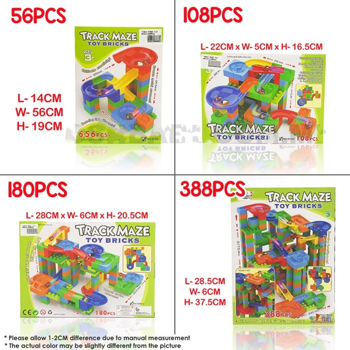 MALAYSIA O ] ALAT PERMAINAN BLOK PLASTIK/ EDUCATIONAL TOYS / TRACK MAZE TOY BRICK TOYS