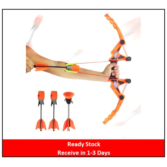 🌟Ready Stock🌟CHILDREN'S TOY BOW WITH ARROWS (CROSSBOW) - AIR STORM TYPE
