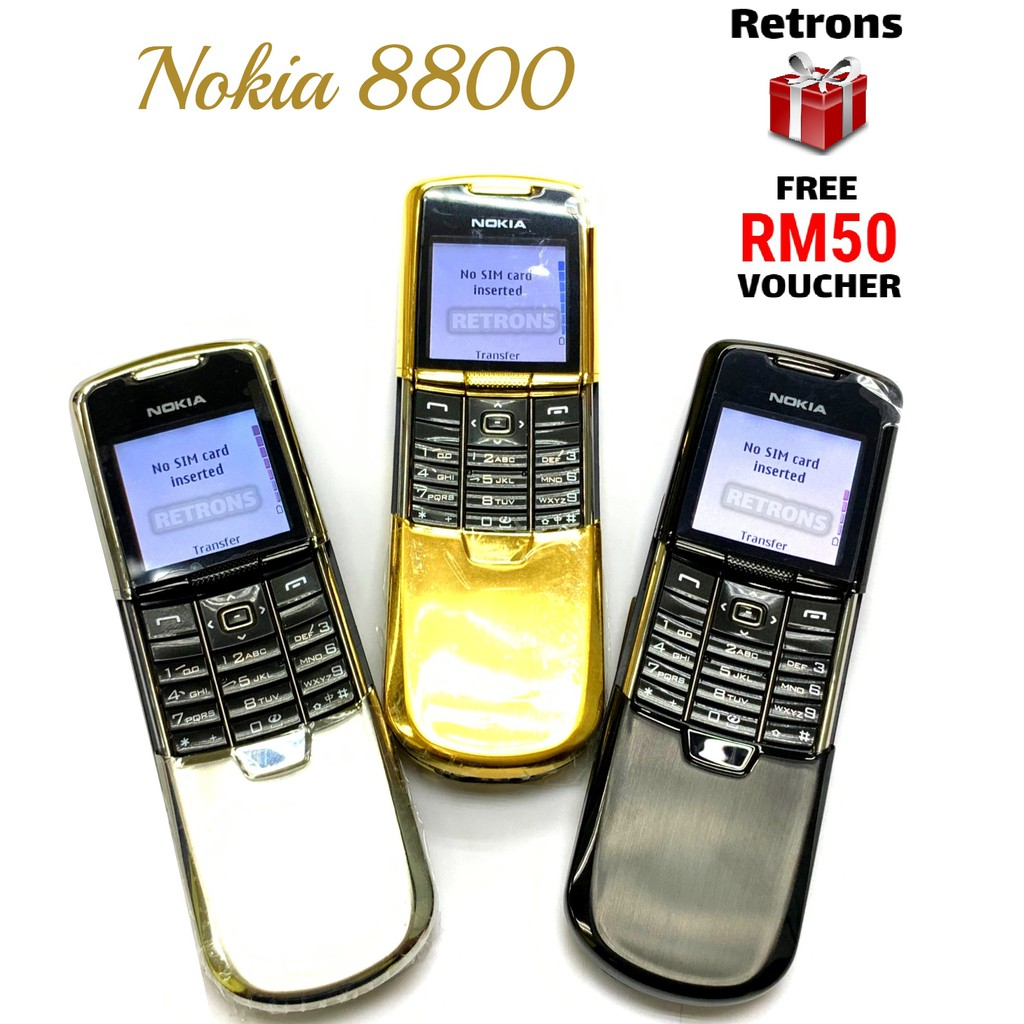 🇲🇾 Original Nokia 8800 | 8800 Sirocco Edition Classic Stainless - Steel Luxury Phone 1 Mth Warranty FREE RM50 Voucher