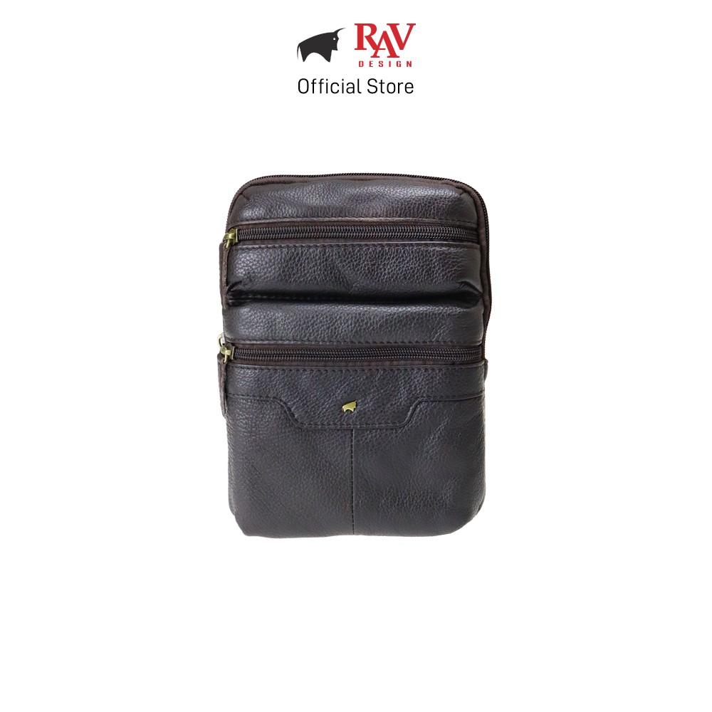 RAV DESIGN Men's Genuine Leather Sling Chest Belt Pouch Bag Series |YRC044