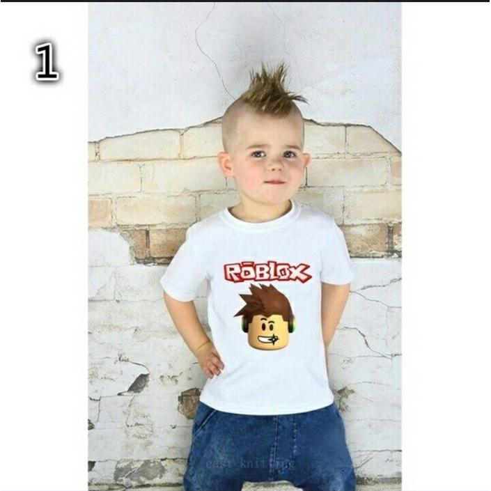 4ace83c02b8e ROBLOX Boys Long Sleeve 100% Cotton t Shirt Kids Spring Autumn Cartoon  Costume   Shopee Malaysia