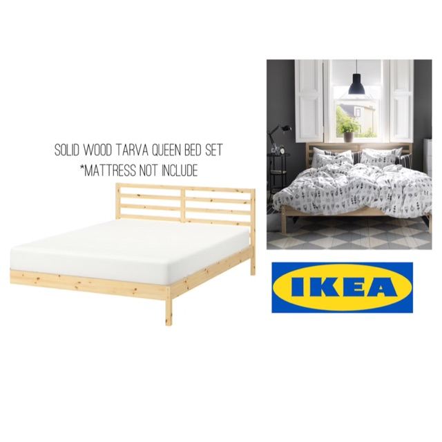 Ikea Tarva Queen Bed Frame With Slatted Based