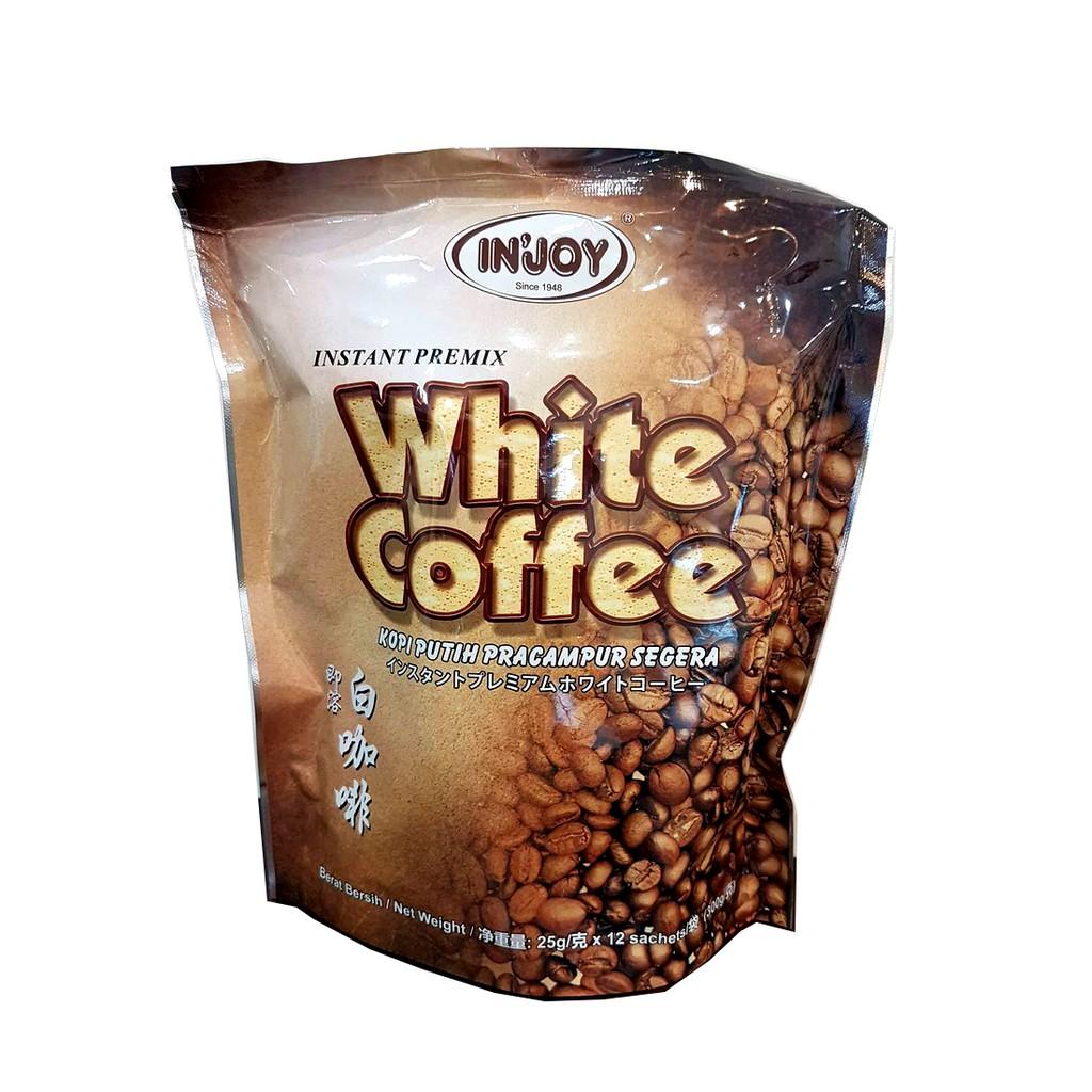 FOREVER LIVING IN'JOY INSTANT PREMIX WHITE COFFEE x 12 sachets