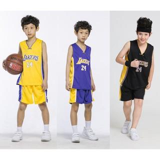 3 Color Boy Suit Sets Los Angeles Lakers No.24 Kobe Bryant Kid ...