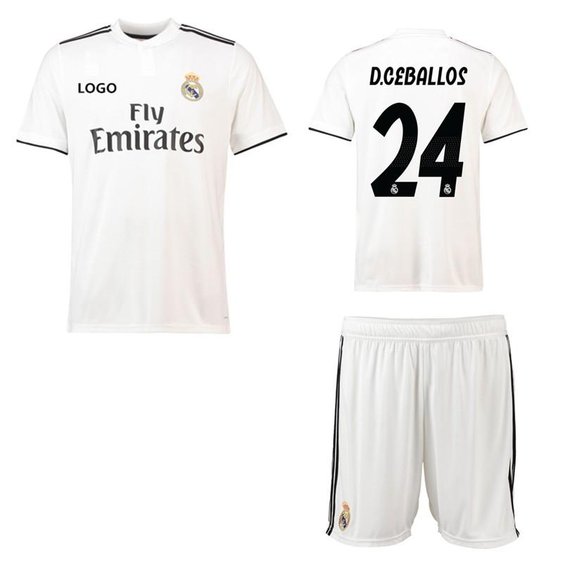 8649d40b5b8 2018-2019 Men s Real Madrid No.7 RONALDO Home Kit Football shirt Soccer  jersey