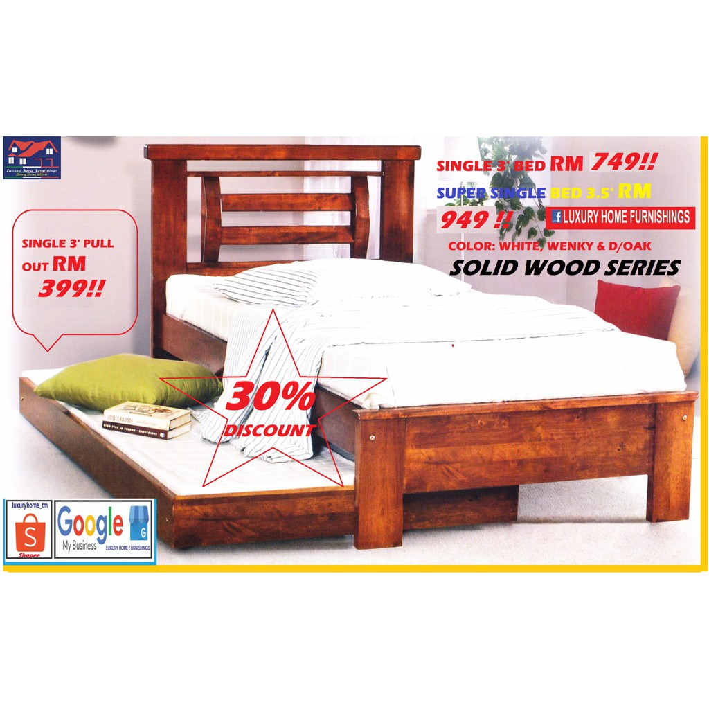 SOLID WOOD BED COLLECTIONS D