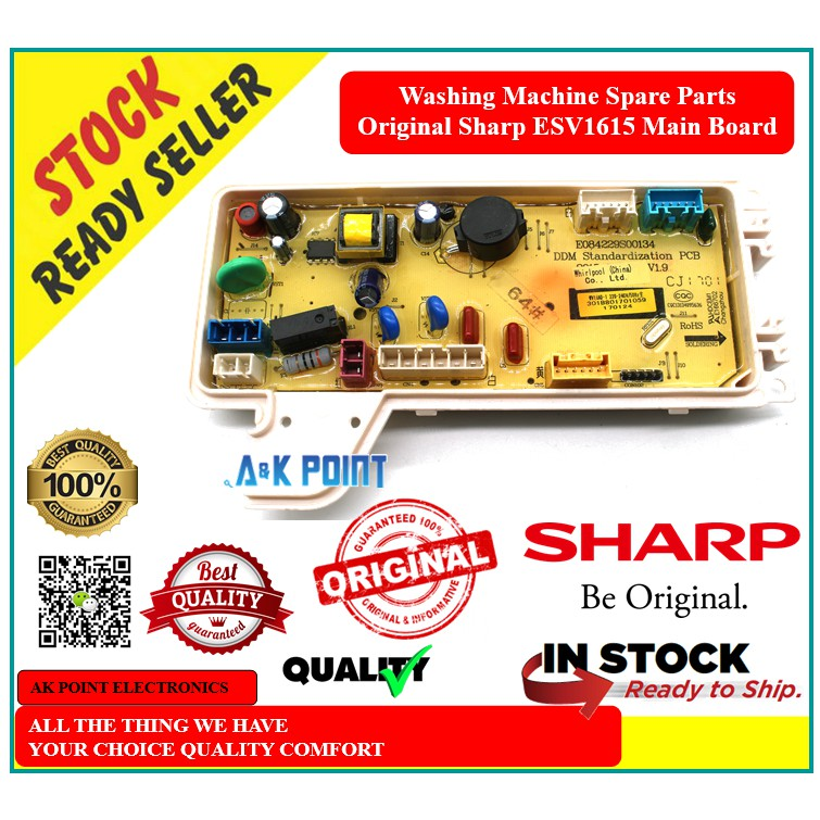 Washing Machine Spare Parts Original Sharp ESV1615 Main Board