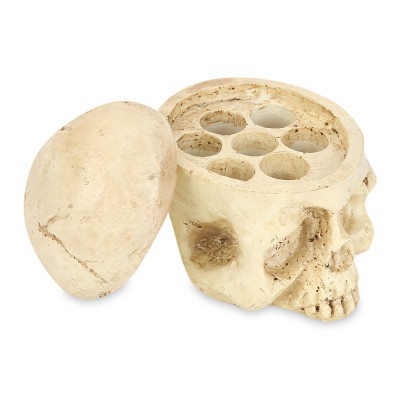 (CLEARANCE) Crazy Hard Resin 7 Holes Tattoo Skull Head Holder Stand for Inks Pigment