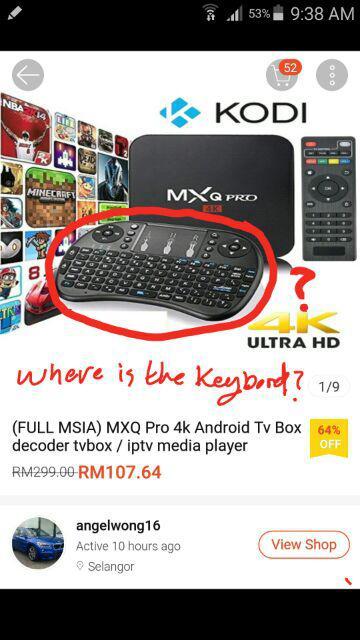 FULL 9900+) MXQ Pro 4k Android Tv Box decoder tvbox / iptv
