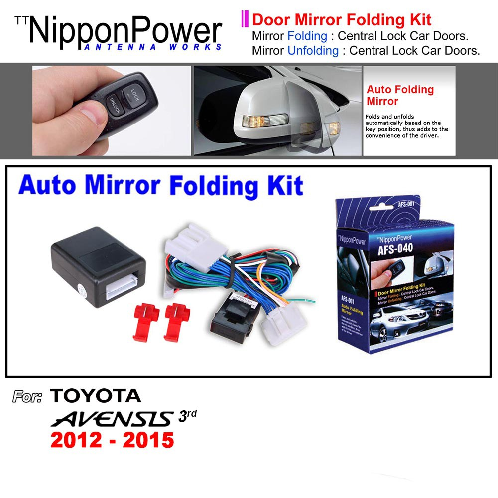 toyota vios 3rd gen 2013-2019 [nippon power] side mirror auto folding |  shopee malaysia
