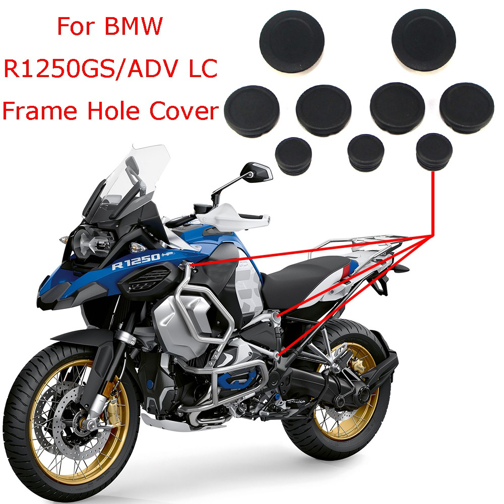 9 PCS Motorcycle Frame Plug Kit Protector Cover Hole Cover Frame Plugs Decorative Cover Replacement for BMW R1200GS R1250GS Adventure 2017-2019