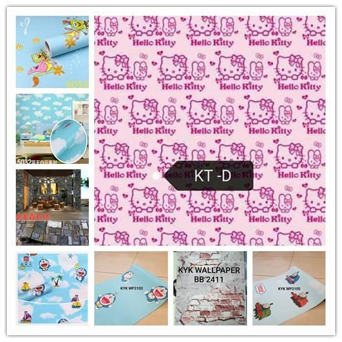 Borong Rm14 Hello Kitty Wallpaper 9 Design Ready Stock Shopee Malaysia