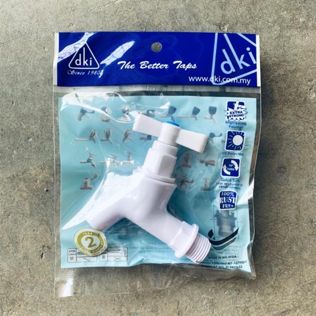 Plastic PVC Bib Tap (T.Handle 1/2 BSP) Kitchen & Bathroom Sink Faucet PVC Bib Water Flow Tap