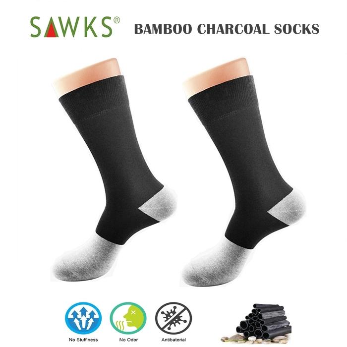 MALAYSIA- SEPASANG STOKIN LELAKI ANTIBAKTERIA Men\'s Bamboo Charcoal Double Socks - ExtraBig