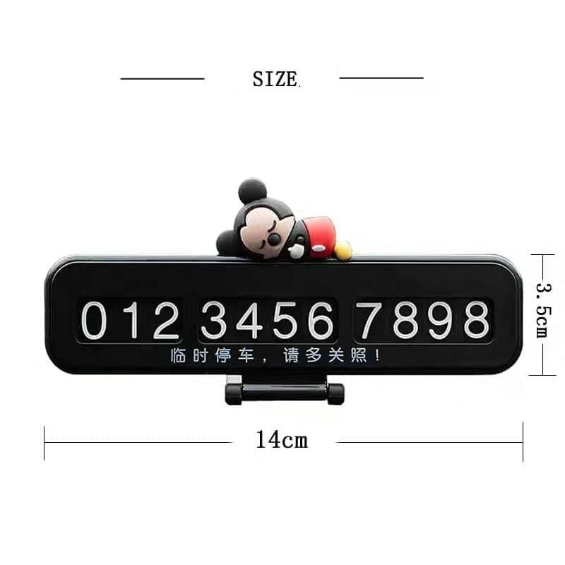 Cartoon Night Light Hidden Parking Notification Phone Number Plate Car Reminder