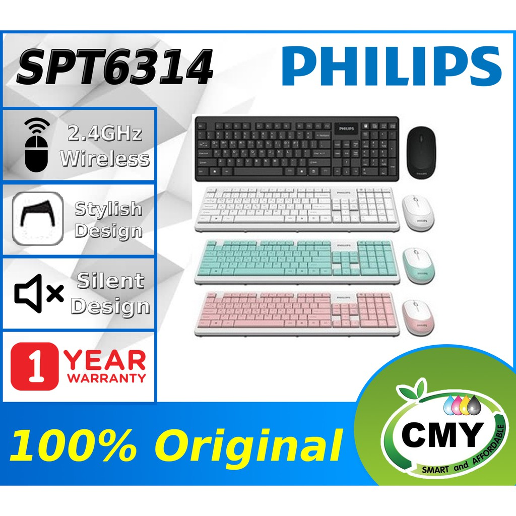 [3 Hour Delivery] PHILIPS C314 SPT6314 WIRELESS KEYBOARD MOUSE COMBO SET