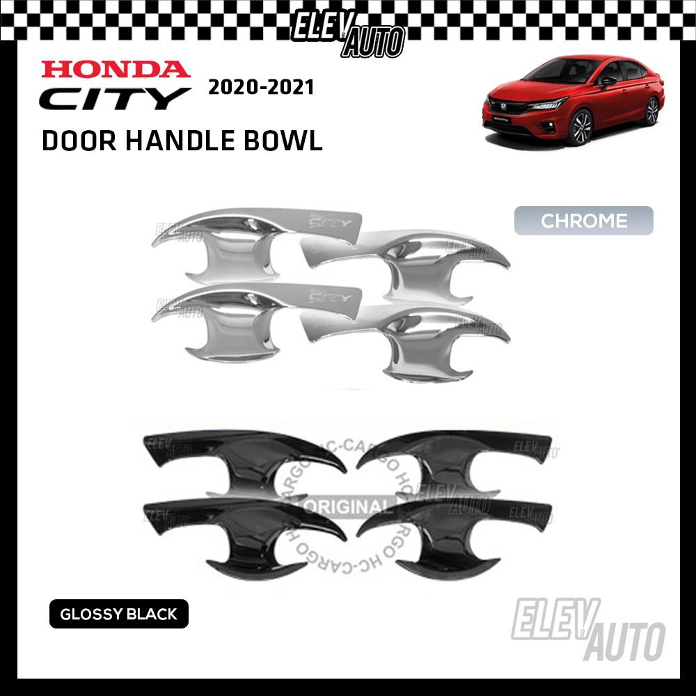 CHROME PIANO BLACK Door Handle Bowl Honda City 2020 2021