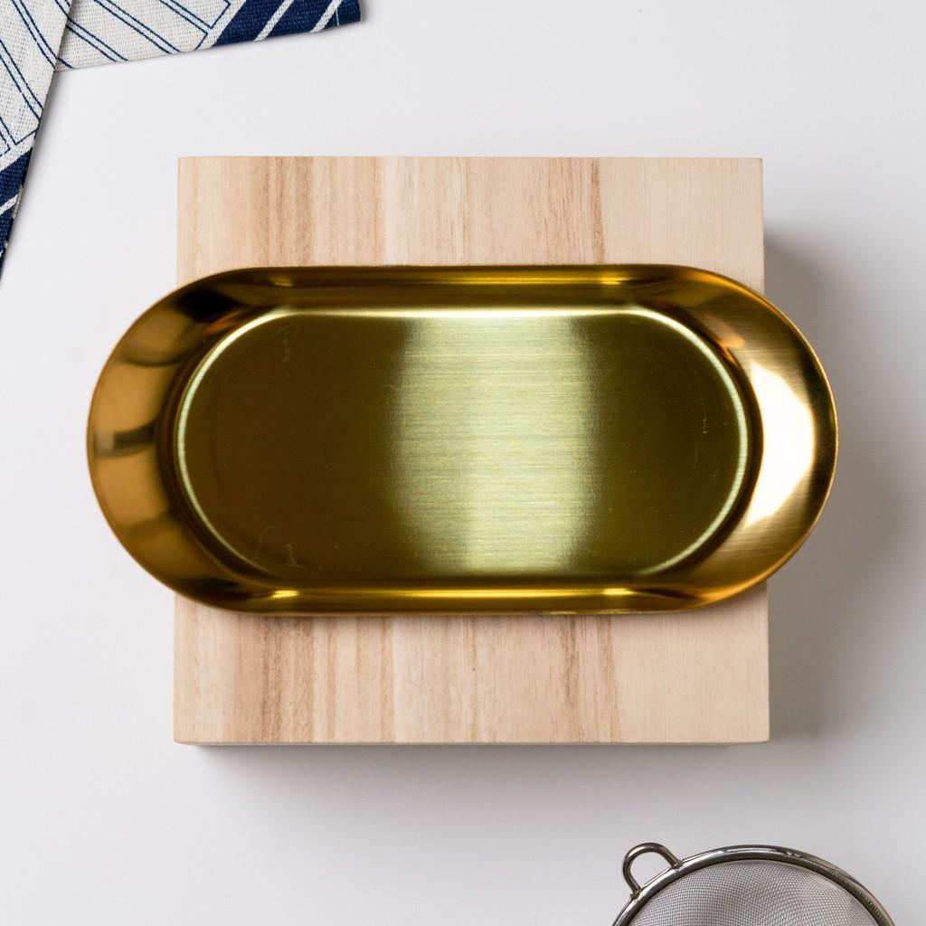 18/23cm Nordic Gold/Silver Stainless Steel Tray  Food Decor Plate Tableware Piring Emas Pinggan 不锈钢金银碟