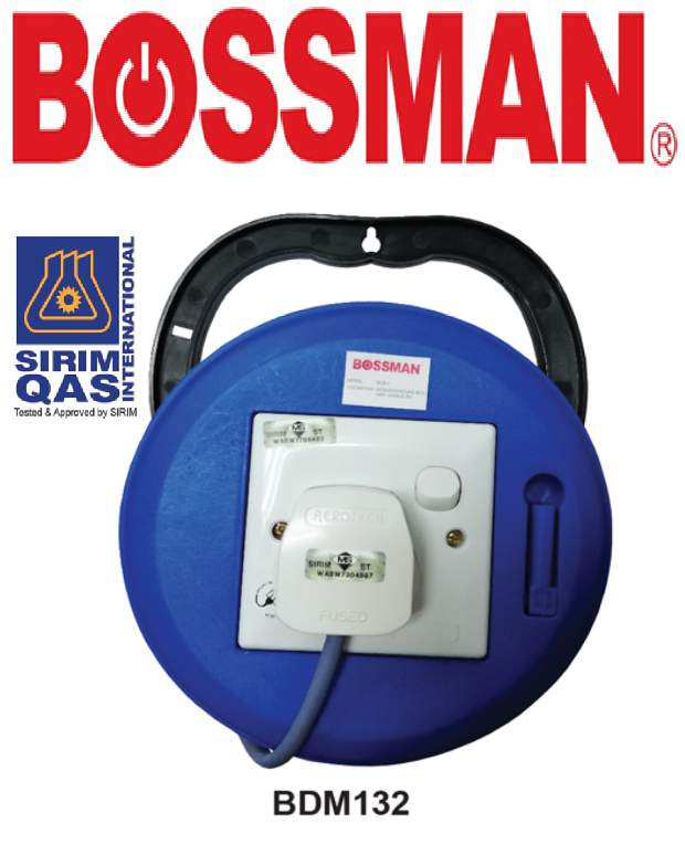 BOSSMAN CABLE REEL ECONOMIC TYPE ELECTRICAL ACCESSPRIES &  FITTINGS EXTENSION CABLE REEL