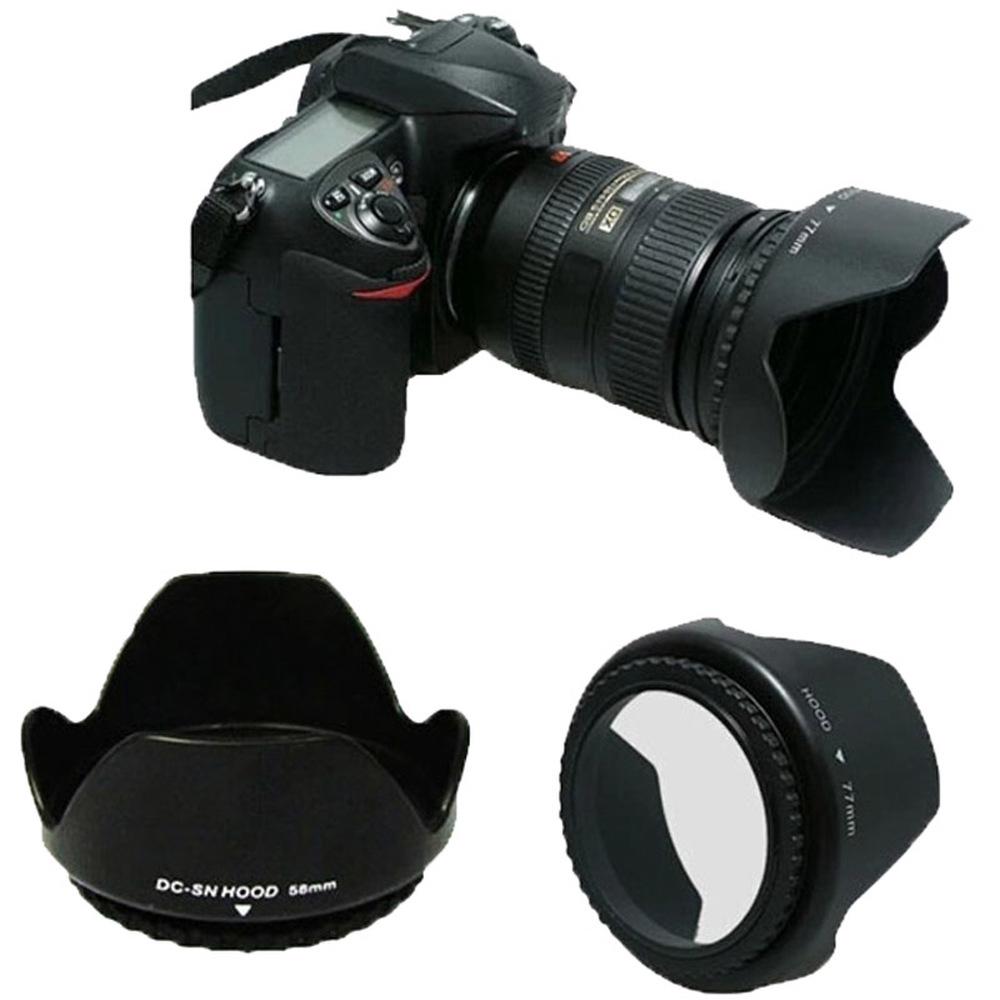 49mm 82mm 52mm 58mm 67mm Flower Petal Tulip Lens Hood Screw Mount for Canon Nikon d5200 d5300 d3200 d3300 d3100 d7000 d7100