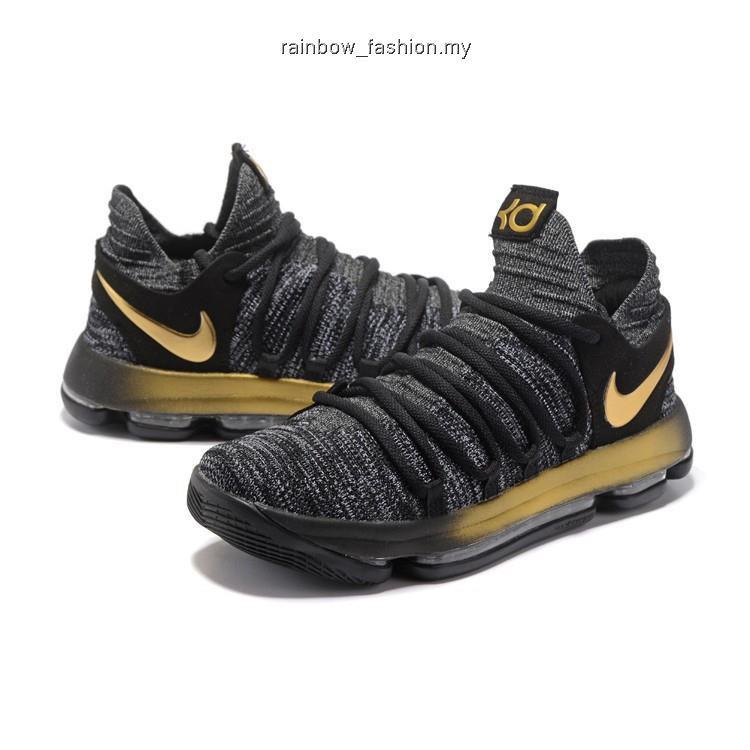 New 2017 Nike Zoom KD10 LMTD EP High Top Men's Basketball Shoes Black White