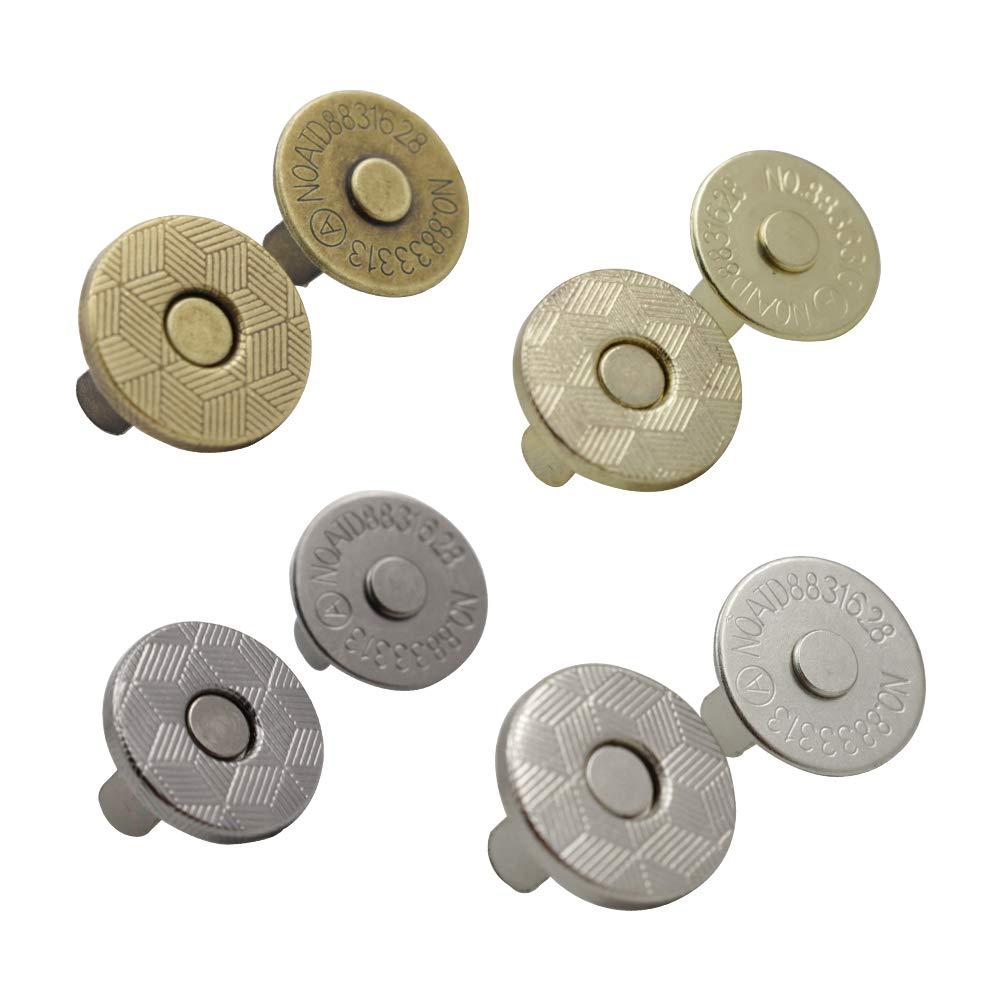Press studs 18mm magnetic clasp snap popper fastener repair handbags silver gold