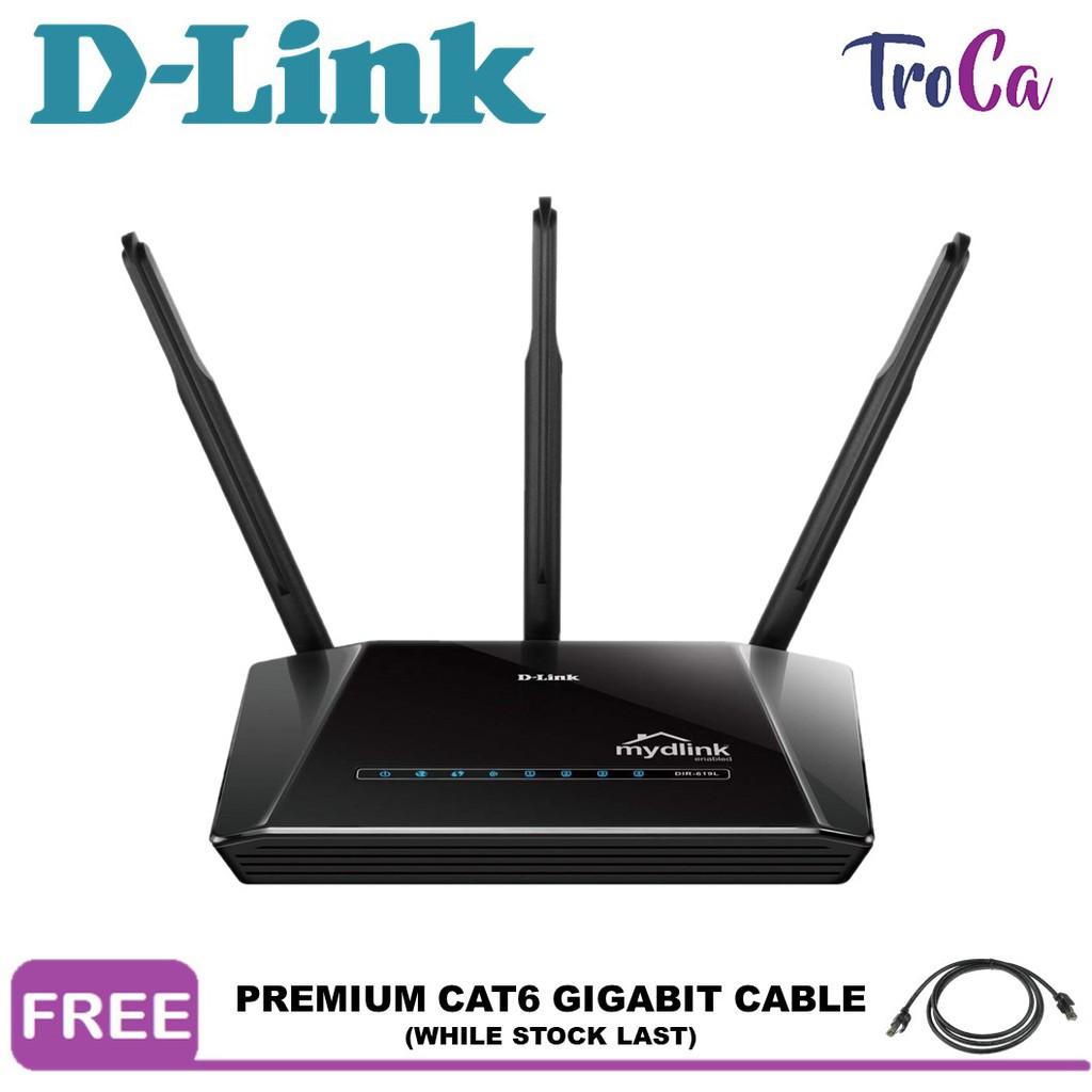 D-Link Wireless N 300M 4 Port High Power Router Antenna Support UNIFI  (DIR-619L)