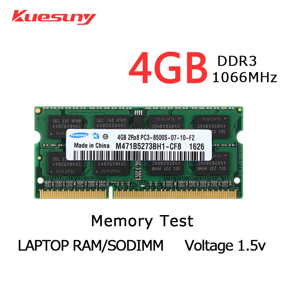 For Samsung 4GB 2RX8 DDR3 1066MHz PC3-8500 204PIN SODIMM Laptop INTEL RAM Memory