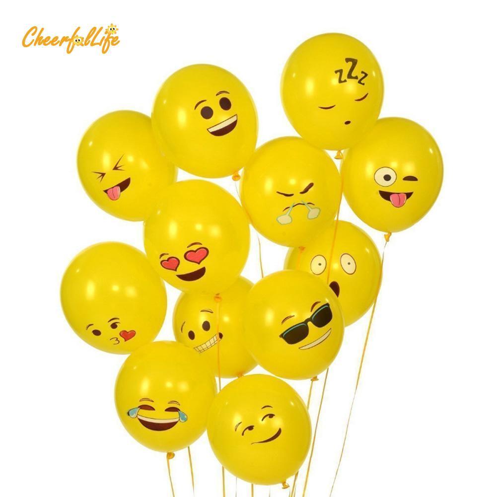 "12/"" 10PCS//Lot Cute Emoji Latex Balloons Wedding Birthday Party Home Room Decor"