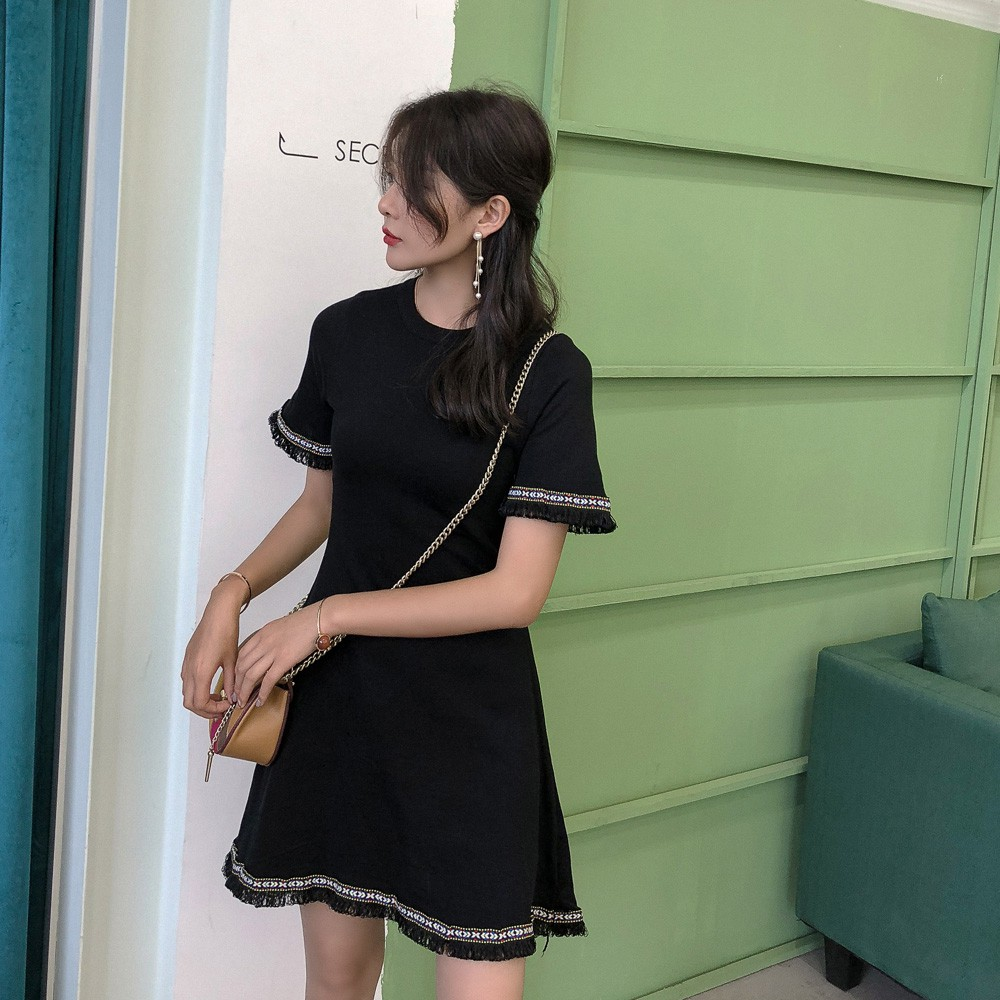a0a2033ccc  VIVIAN Ready stock Korean Fashion Women Lace Floral dress female summer  chiffon was thin dress grew up skirtgirls cloth