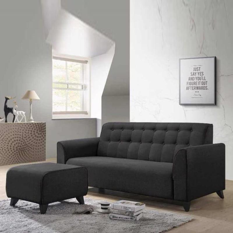 RICO 3 seater fabric sofa with stool/ i shaped sofa/ 3 seater sofa/ sofa murah