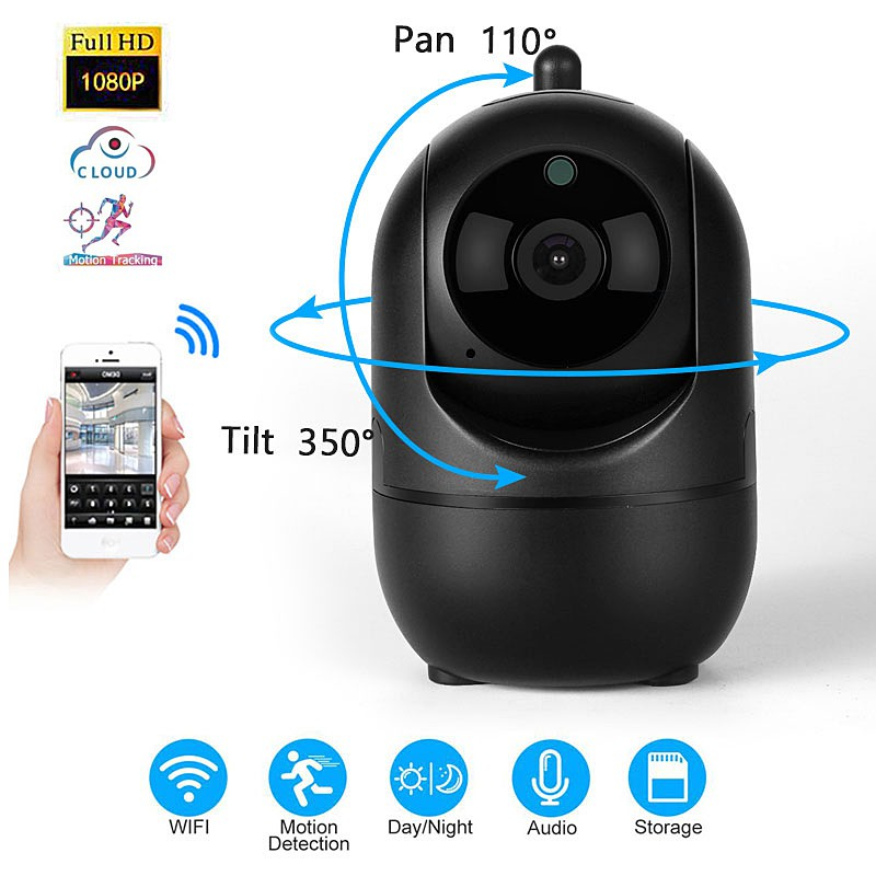 HD 1080P Wireless IP Camera Intelligent Auto Tracking Of Human Night Vision  Home Security Surveillance WIFI CCTV Camera