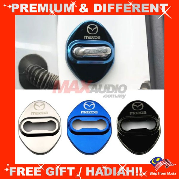MAZDA 2 3 6 CX3 CX5 BT-50 Premium Chrome Alloy Door Lock Protection Cover (4pcs/Set)