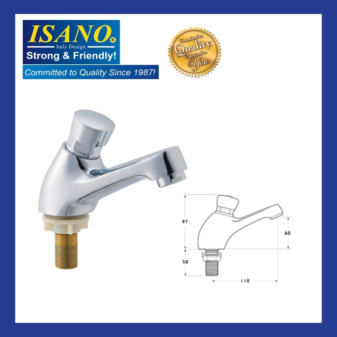 ISANO DELAY AUTOMATIC PRESS SELF-CLOSING BASIN TAP 1000DI