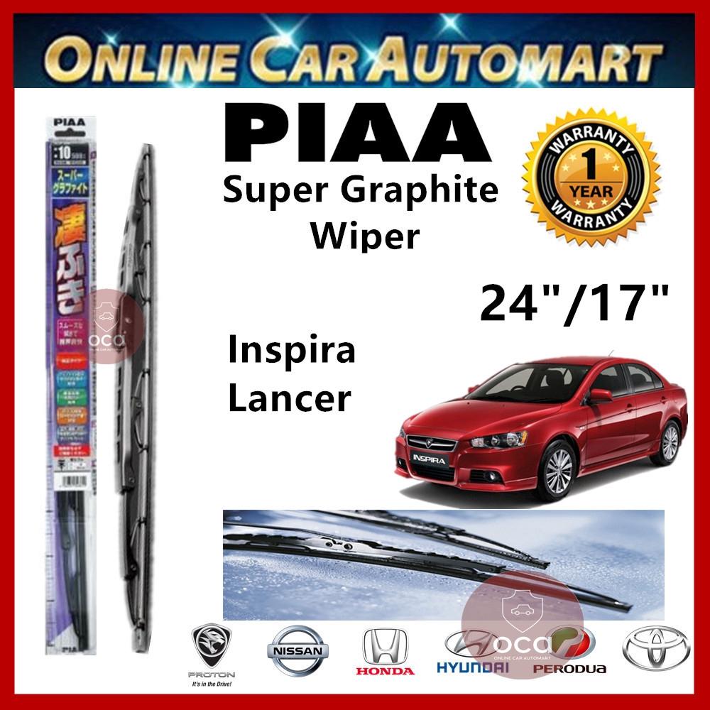 "PIAA Super Graphite Wiper Blade 24""/17"" Proton Inspira/ Mitsubishi Lancer"