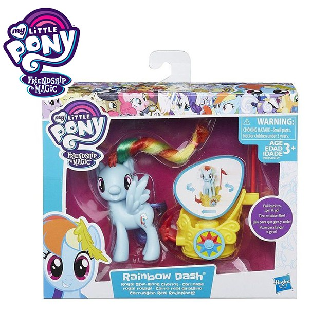 My Little Pony Friendship is Magic Rainbow Dash Pull back to Spin & Go Collection B9835 /9159 hasbo Action Pony
