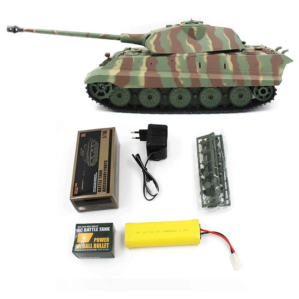 Heng Long 1/16 2 4G 3888-1 German King Tiger Battle Tank