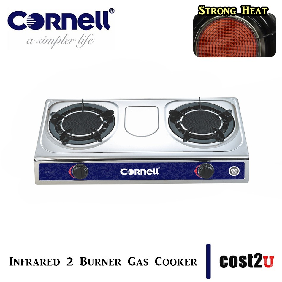 CORNELL INFRARED 2 BURNER GAS STOVE | CGS-G150SIR