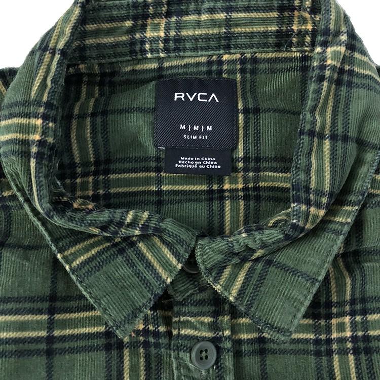 New Rvca Men/'s Tacked Ls Mens Shirt Long Sleeve Cotton Green