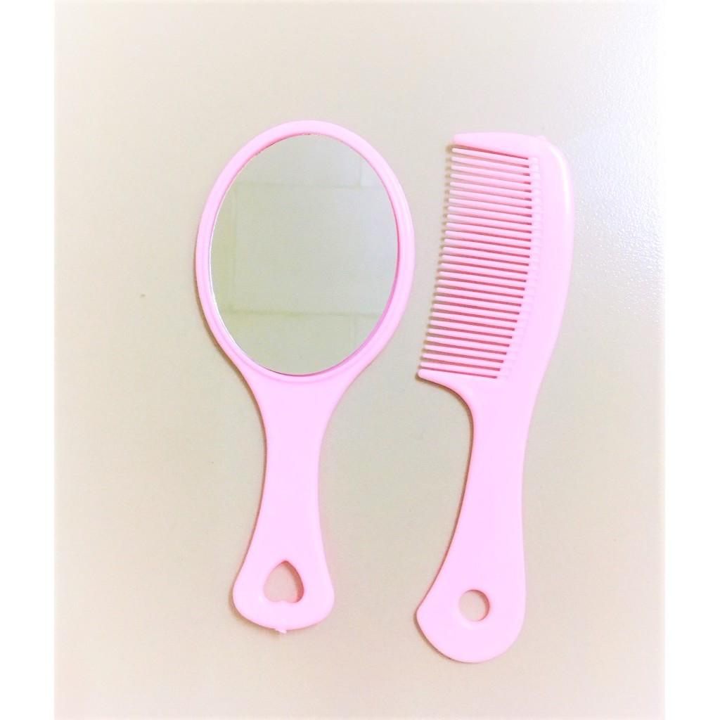 Cartoon Mirror Comb Set Children Mirror Comb Makeup Mirror Portable Essential For Makeup Bag