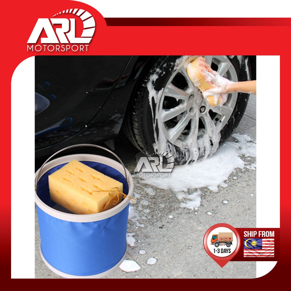 Foldable Water Bucket Car Wash Fishing Camping 11L Water Bucket Fold able Car Auto Acccessories ARL Motorsport
