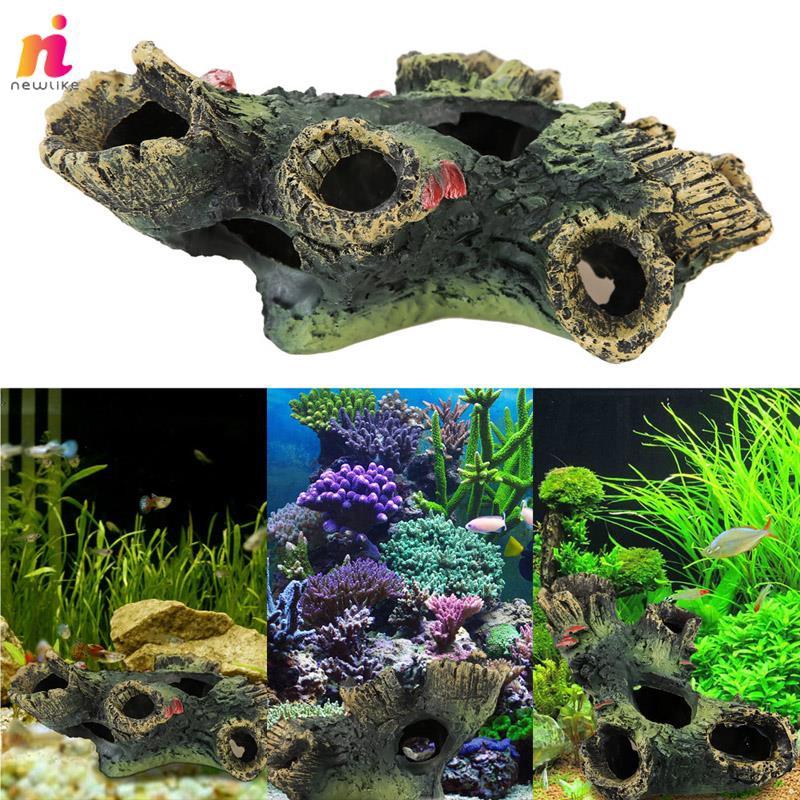 Nl Pets Fish Tank Fish Aquarium Pet Supplies Trunk Ornament Decoration Resin Shopee Malaysia