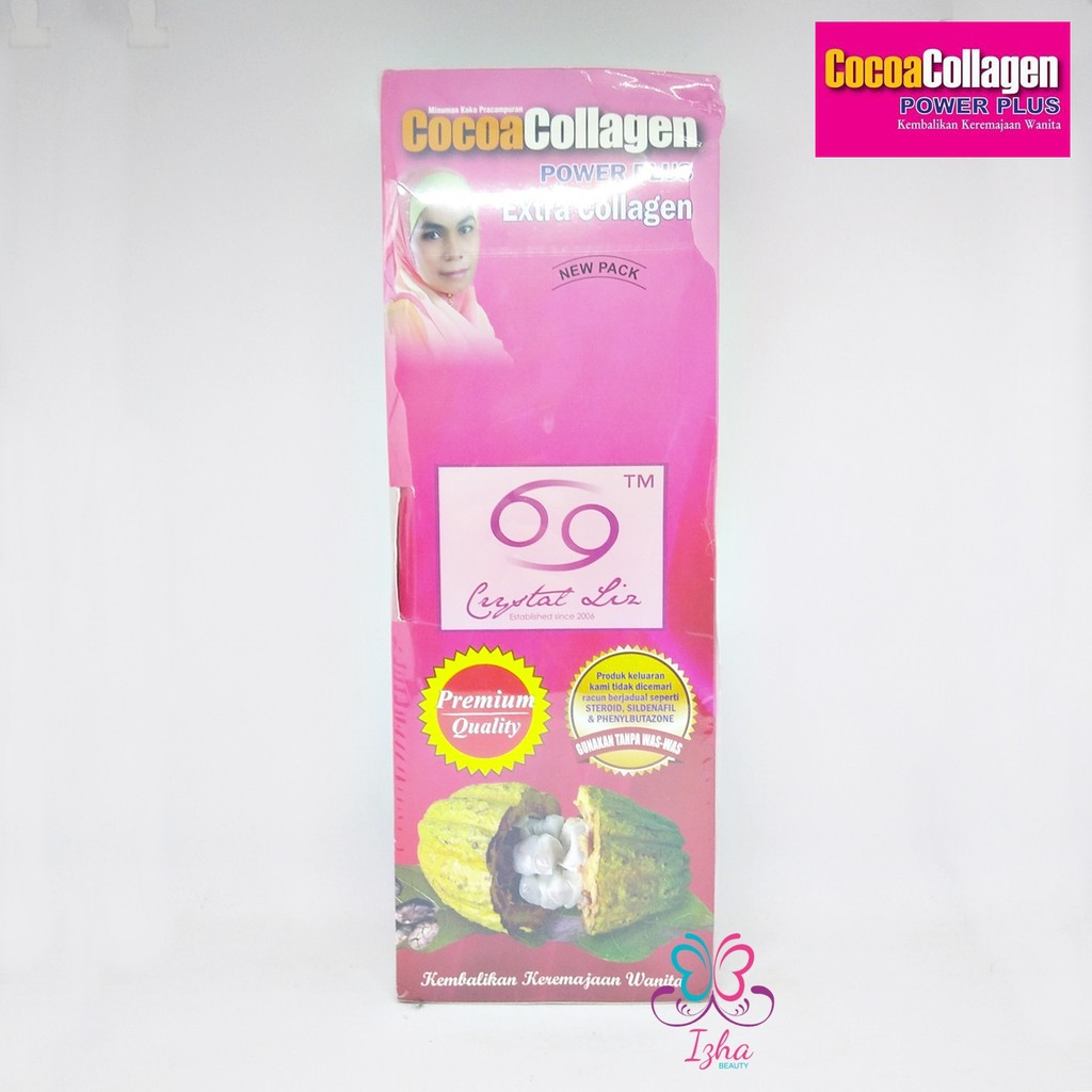 [CRYSTAL LIZ] Cocoa Collagen Power Plus (CCPP) - 30 sachet x 25g (2 kotak)