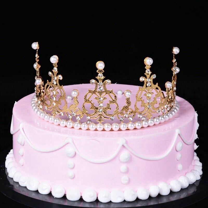 Pleasant Dingjunwujing Wedding Cake Topper Decor Tiara Crown Kid Birthday Funny Birthday Cards Online Amentibdeldamsfinfo