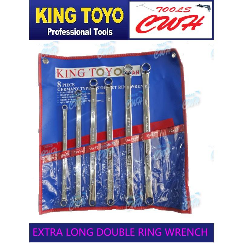 King Toyo KT-ELS6  Extra Long Offset Ring Wrench Set 6 Pcs      ---------------STANLEY BONDHUS TOTPUL SATAGOOD M10 SATA