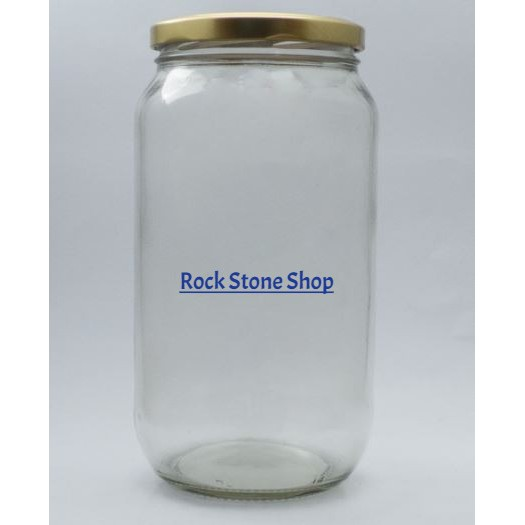 1000ml Round Glass Jar Bottle Air Tight Storage Container For Sweet Spices Door Gift | Balang Botol Kaca Bulat | 圆形玻璃小罐子