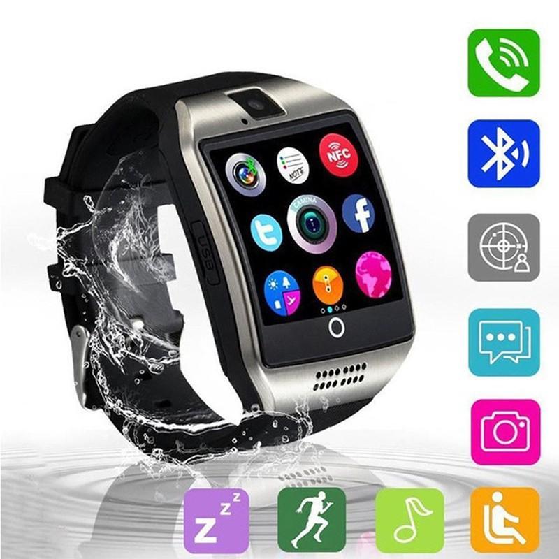Q18 Smartwatch Bluetooth Kamera Sport Support SIM TF Card iOS Android
