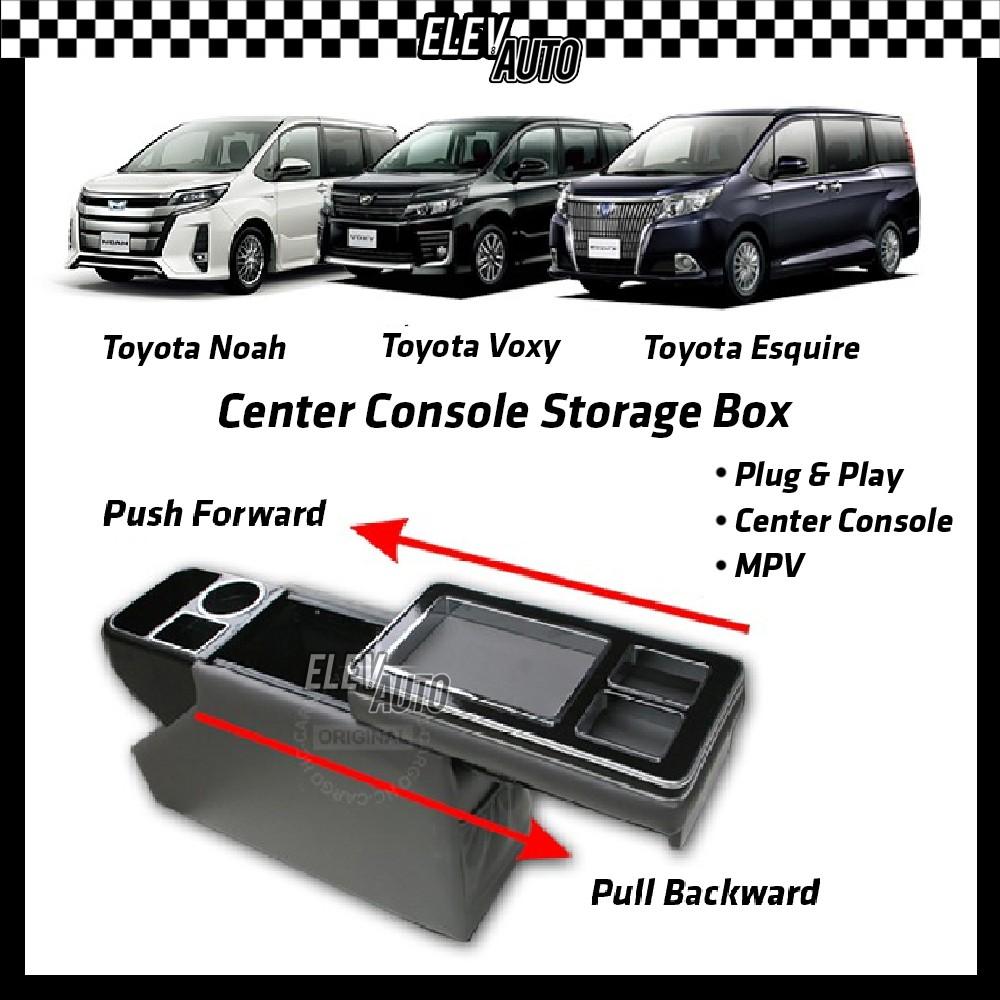 Toyota Noah | Voxy | Esquire MPV Center Console Storage Box ABS Piano Black